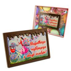 Oryginalne życzenia Urodzinowe z czekolady