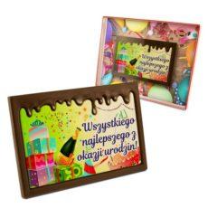 Kolorowo-czekoladowe życzenie na Urodziny