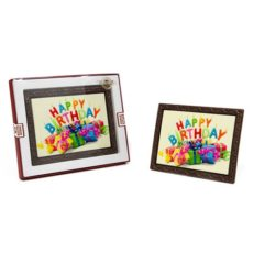 Kartka urodzinowa z czekolady