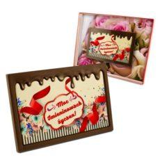 Kolorowo-czekoladowe życzenie na Imieniny