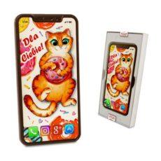 Czekoladowy Iphone X z życzeniami na Imieniny