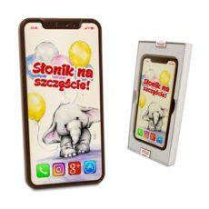 Czekoladowy Smartfon z życzeniami na Dzień Dziecka