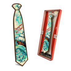 Kolorowy krawat z życzeniami na gratulacje 85