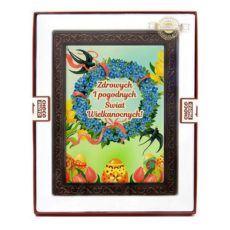 Czekoladowa Wielkanocna kartka z życzeniami dla bliskich