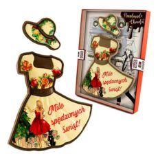 Romantyczna sukienka na czas Bożego Narodzenia