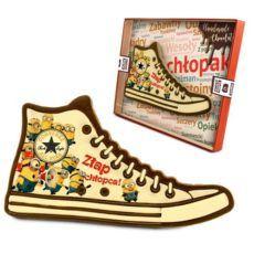 Zabawny Converse z czekolady z okazji Dnia chłopaka
