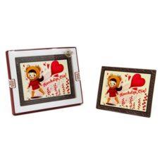 Czekoladowa kartka na Walentynki