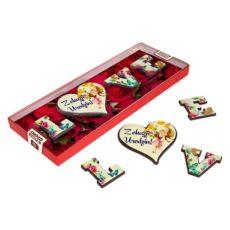 Romantyczne LOVE  z czekolady na urodziny 85