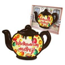 Czekoladowy czajnik z życzeniami na Wielkanoc 100