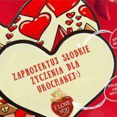 Unikalne czekoladowe serca z życzeniami